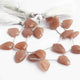 1 Strand Peach Moonstone Pentagon Shape Beads Briolettes - 16mmx11mm-17mmx13mm 7.5 Inches BR768 - Tucson Beads