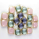 5 Pcs Iolite 925 Sterling Vermeil Gemstone Faceted Cushion Shape Single Bail Pendant -20mmx17mm SS068 - Tucson Beads