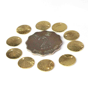 50 Pcs Designer 24k Gold Plated Copper Stamping Blanks,Round Charm Brush Copper Discs Great For Earrings,Jewelry Making BulkLot 12mm GPC511 - Tucson Beads