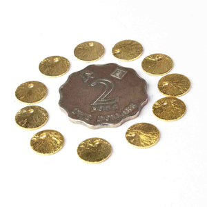 50 Pcs Designer 24k Gold Plated Copper Stamping Blanks,Round Charm Brush Copper Discs Great For Earrings,Jewelry Making BulkLot 8mm GPC509 - Tucson Beads
