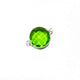 8  Pcs Peridot 925 Sterling Silver Faceted Round Shape Connector - Gemstone 21mx10mm SS584 - Tucson Beads