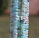 1 Long Strand Peru Opal/Bolder Opal Faceted Rondelles - Roundel Beads 4mm-6mm 13 Inches BR3770 - Tucson Beads