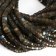 1 Strand Extremely Beautiful Labradorite Faceted Wheel Roundelles - Wheel Beads 7mm-9mm 14.5 inches BR1820 - Tucson Beads