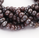 2 Strand Chocolate Moonstone Silver Coated Faceted Rondelles - Roundle Beads 8mm-11mm 14 Inches BR1569 - Tucson Beads