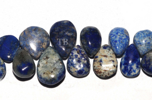 1 Strand Lapis Lazuli Faceted Pear Briolettes - Lapis Beads 16mmx12mm-10mmx6mm 9 Inches BR3938 - Tucson Beads