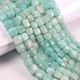1 Strand Amazonite Faceted Cube Briolettes - Box Shape Beads 6mmx6mm-9mmx8mm 8.5 Inch BR783 - Tucson Beads