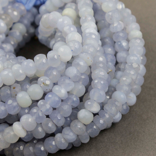 6.5 Inches Strand Natural Chalcedony Briolettes 5x10mm to 6x15mm Faceted  Dew Drops Briolettes Gemstone Beads Rare Chalcedony Beads No2156