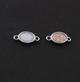 10 Pcs Mystic Titanium Druzy Oval Connector, Silver Plated Double Bail Connector, Bezel Connector 13mmX6mm PC623 - Tucson Beads