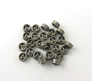 1 Pc Pave Diamond Designer Spacer Beads - 925 Sterling Silver 8mm PDC183 - Tucson Beads