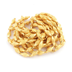 1 Strand 24k Gold Plated Designer Copper Casting Bio Cone Beads - Jewelry- 23mmx10mm 9 Inch Gpc098 - Tucson Beads