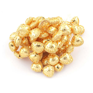 1 Strand 24k Gold Plated Designer Copper Casting Trillion Beads - Jewelry- 17mmx16mm 7 Inches GPC152 - Tucson Beads