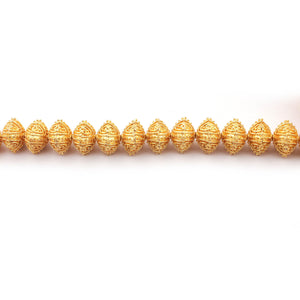 1 Strand 24k Gold Plated Designer Copper Casting Square Shape Beads - Jewelry Making- 17mm 9 Inches GPC002 - Tucson Beads