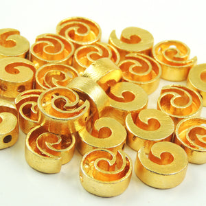 5 Pcs Gold Snail Charm - 24k Matte Gold Plated - Ammonite Shell Charm  15mmx14mm GPC703 - Tucson Beads