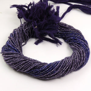 5 Strands Purple Zircon Faceted Rondelles- Finest Quality Zircon Rondelles Beads 3mm 13 inch strand Rb213 - Tucson Beads
