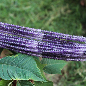 5 Long Strands Shaded Amethyst Faceted Rondelles - Shaded Amethyst  Roundelle Beads 3mm-4mm 13 Inch RB099 - Tucson Beads