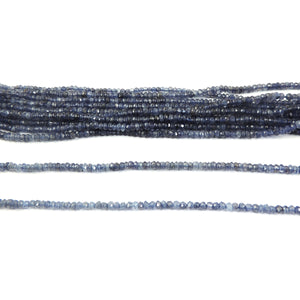 5 strands Iolite Faceted Rondelles Fine Quality 3mm-3.5mm Rondelles 13.5 inch strand RB118 - Tucson Beads