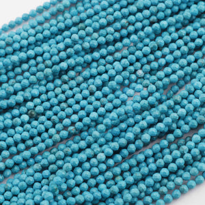 5 Strands Turquoise Ball Beads,Small Faceted Beads,Ball Beads,Gemstone Beads,Stone beads,2MM RB363 - Tucson Beads
