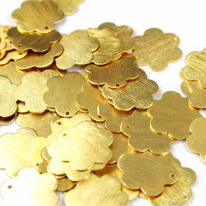 30 PCS  Clover Charm 24k Gold  Plated On copper -  Golden  stamp finish charm 20mm GPC878 - Tucson Beads