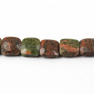 1 Strand Unakite Faceted Chicklet Beads- Faceted Chicklet Briolettes - 7mm-10mm 8 Inches BR1821 - Tucson Beads