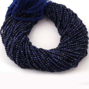 4 Long Strands Ex+++ Quality 3mm-4mm Lapis Lazuli Faceted Rondelles - Lapis Lazuli  Faceted Beads 12.5 Inches RB394 - Tucson Beads