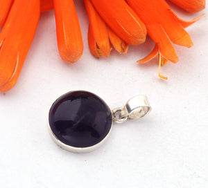 1 Pc Genuine and Amethyst Pendant - 925 Sterling Silver Pendant- Gemstone Pendant 26-16mm SJ18 - Tucson Beads