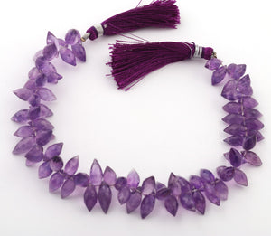 1 Strand Amethyst Twisted Marquise Drop Briolettes 5mm-7mm 9.5 Inch BR3129 - Tucson Beads