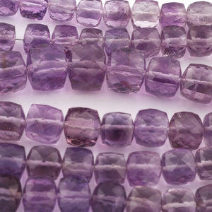 1 strand Shaded  Pink Amethyst Box Beads Cube Shape FULL Strand 6-6mm 16 inches BR3101 - Tucson Beads