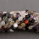 2 Strands AAA Multi Gemstone Faceted Coin Rondelles- Mix Stone Coin Beads 8mm-12mm 13 Inch Long Strand RB223 - Tucson Beads
