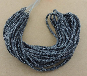1 Full Strand Black Diamond Nuggets-- Raw Diamond Chips Nuggets Center Drill Beads 3mm 15inch long strand SB15 - Tucson Beads