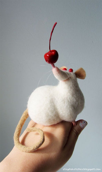Felted Mouse by Steph Laberis