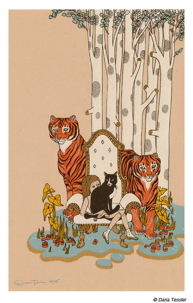 2 Tigers by Daria Tessler