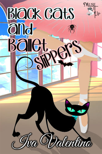 Black Cat and Ballet Slippers