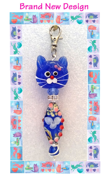 Kitty zipper pull design by Inga Binyon of 4MyMeow