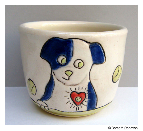 Ball Dog Love Mug by Barbara Donovan