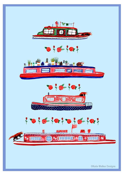 Canal Boats by Katie Walker