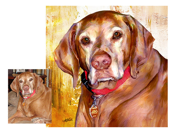 Custom Dog Pet Portrait by Sally Barlow- Max- Inspired Me to do Pet Portraits