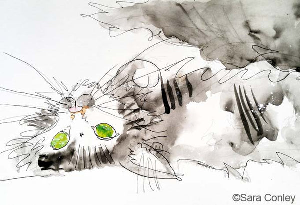 Cat painting by Sara Conley