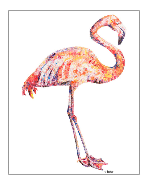 """Fabulous"" Flamingo painting by Becksy"