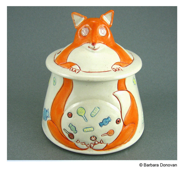 Foxy Candy Jar by Barbara Donovan