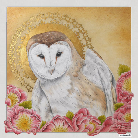 Guardian Spirit by Jennie Norris - Watercolor & Pencil Drawing