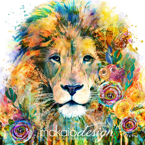 Garden of the Wild - LION artwork by Sally Barlow