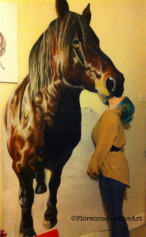 Florence Jardine-friggins with horse painting