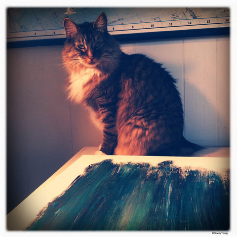 Mischa being all muse like... ` Artist Stacey Young