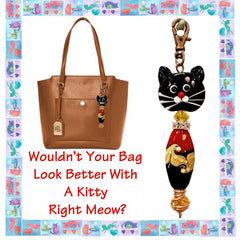 Kitty clip can be used as purse or zipper pull by Inga Binyon of 4MyMeow