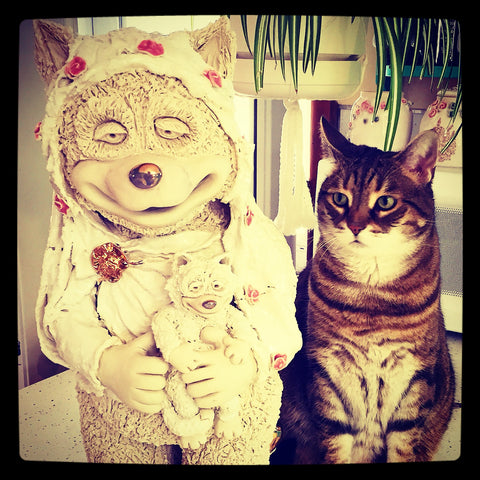 Madonna and Child with Push Puch by Crazy Cat Lady Ceramics