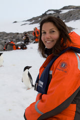 Monica M. Martino on location in Antarctica