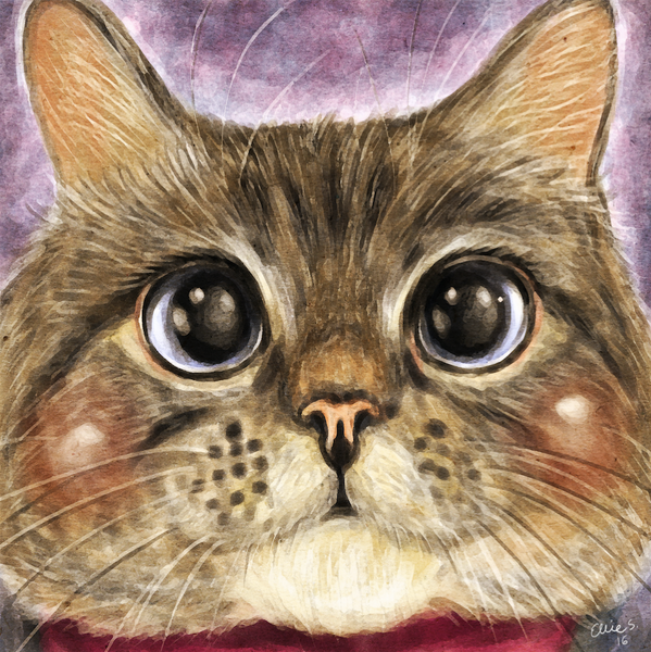 Nala Cat - art by © Ellie Szymanska-Saleem