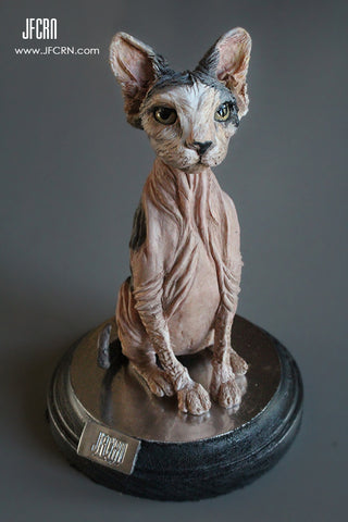 Hairless Pet Sculpture by Sculptor Joan Cabarrus