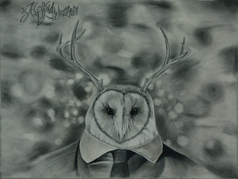 Owl in Suit by Kennth Shaw of Next Wave Tattoos