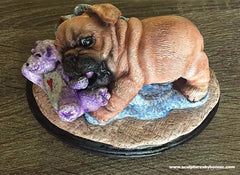 Pug Sculpture by Bonnie Kiefer